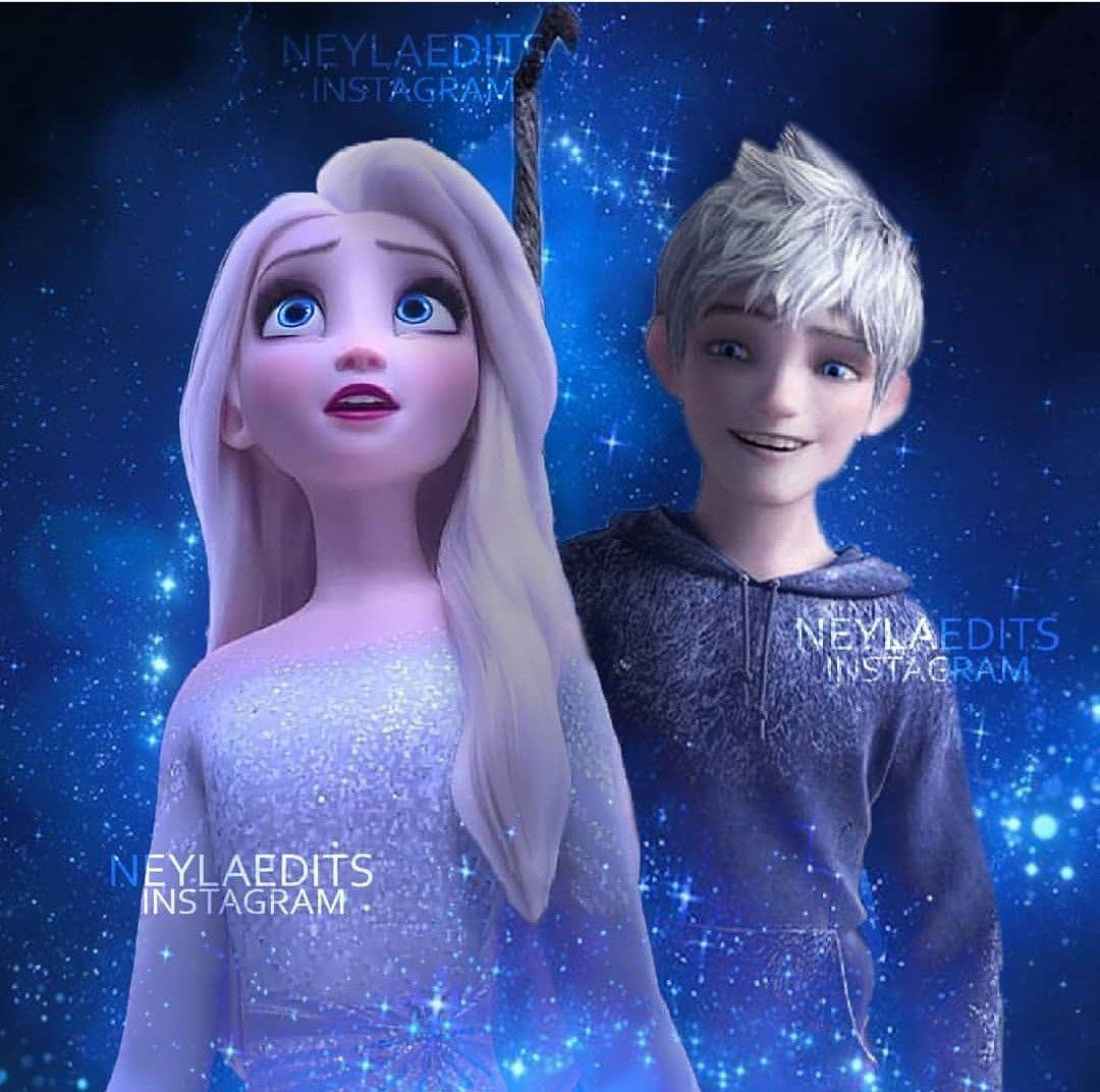 Jelsa Elsa And Jack Frost Frozen 2 Rotg Edit By Neylaedits Instagram In 2020 Jack Frost Jelsa Elsa