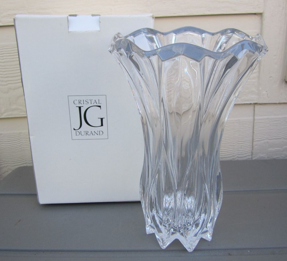 New in box jg durand calliope large heavy lead crystal vase new in box jg durand calliope large heavy lead crystal vase arques france 50 reviewsmspy