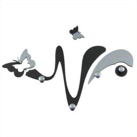 Appendiabiti Da Parete Farfalle.Appendiabiti Da Parete Design Farfalla Nero Alu Amazon It 63 Euro