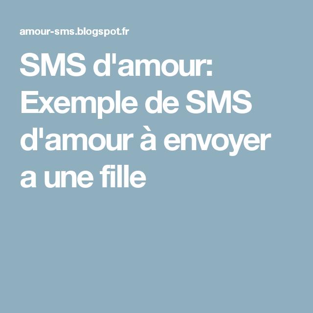 Sms Damour Exemple De Sms Damour à Envoyer A Une Fille