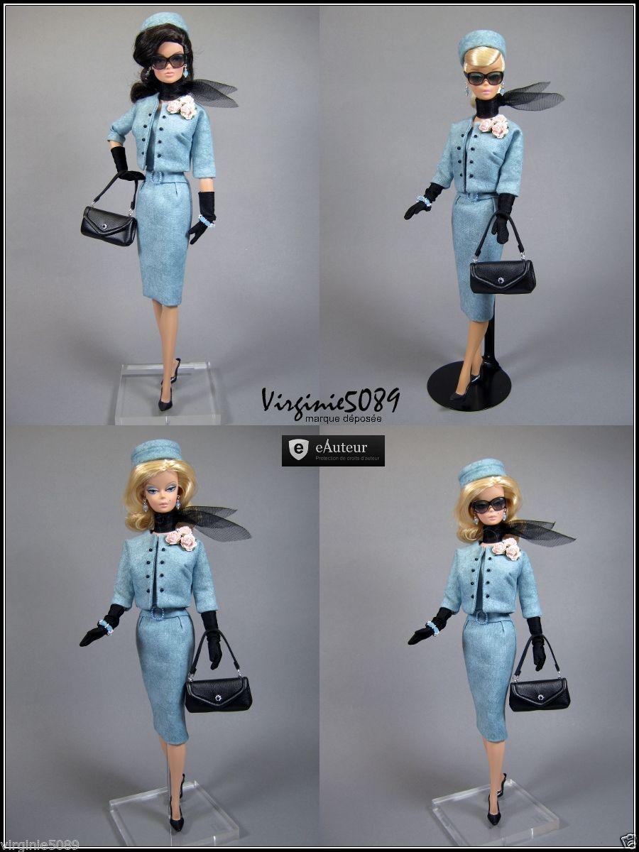 Tenue Outfit Accessoires Pour Barbie Silkstone Vintage Fashion Royalty 1129   eBay