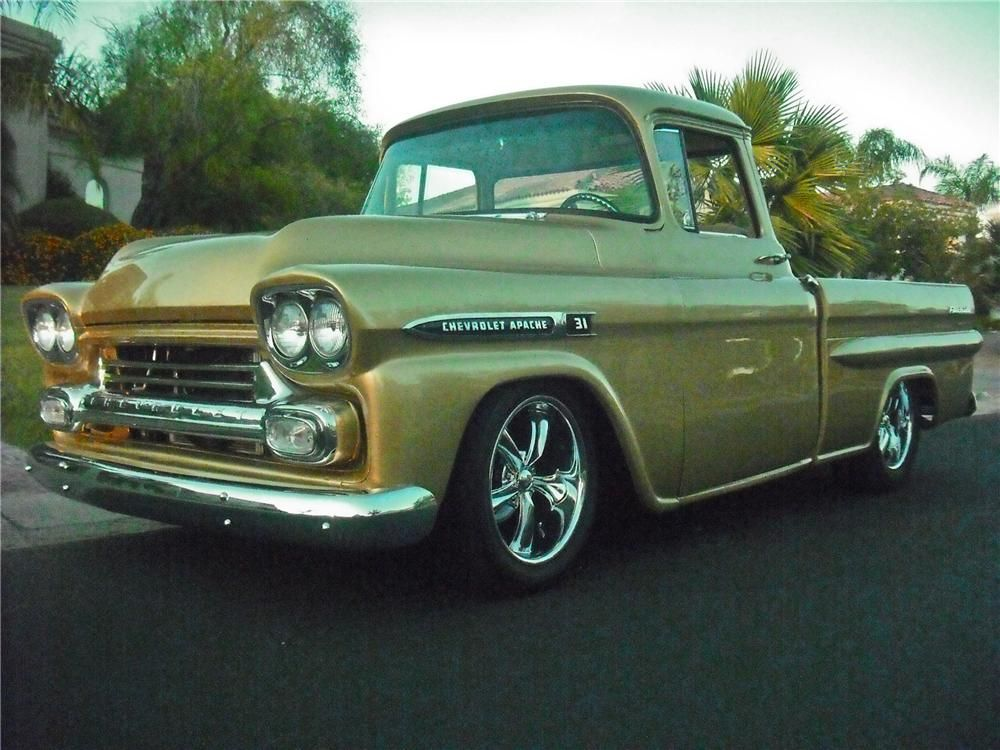 1959 CHEVROLET APACHE CUSTOM PICKUP | I love trucks | Pinterest ...