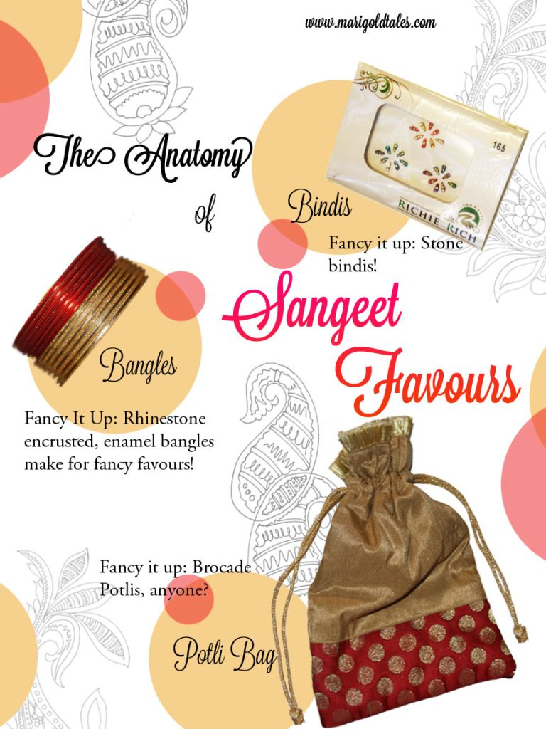 Sangeet - Favours & Return Gifts | Marigold Tales | Weddings and ...