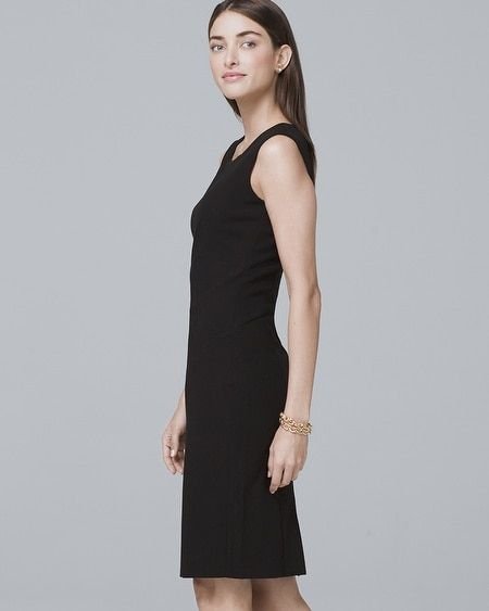 dde3608a85d Women s Body Perfecting Black Seamed Sheath Dress by White House Black  Market