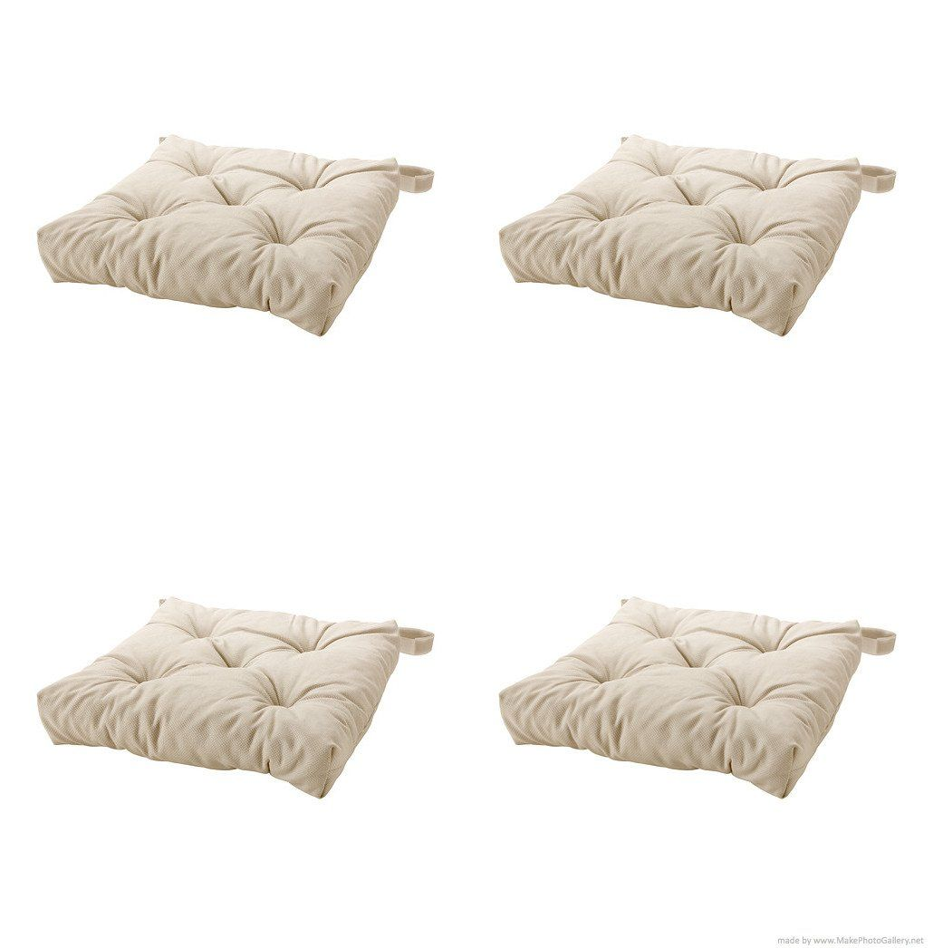 Cushions chair pads and more - Amazon Com Ikea S Malinda Chair Cushion Light Beige 4 Pack 35 39