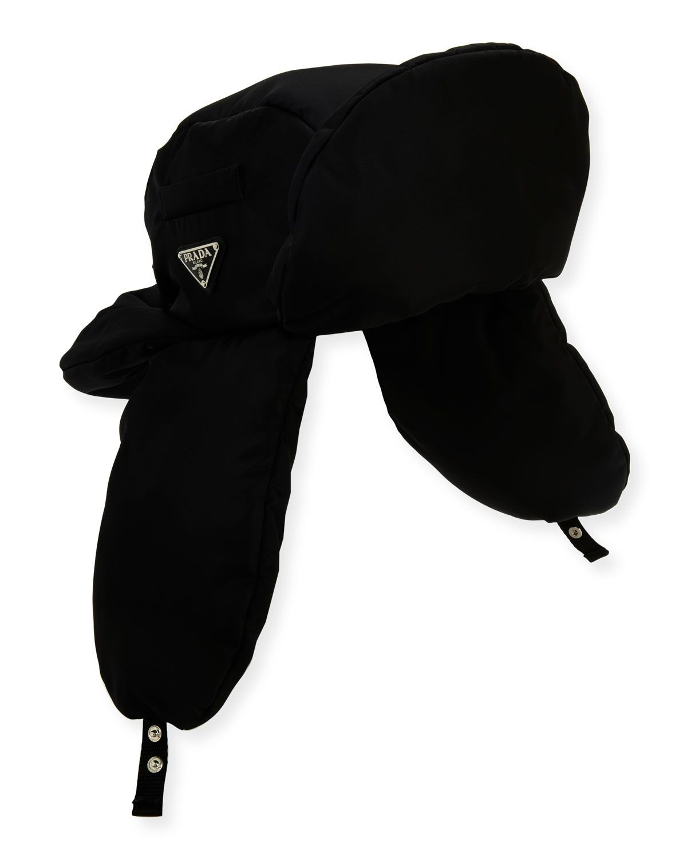 082f506dc6f PRADA MEN S NYLON AVIATOR HAT.  prada
