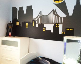 Superhero Wall Decal Gotham City Wall Decal By StunningWalls