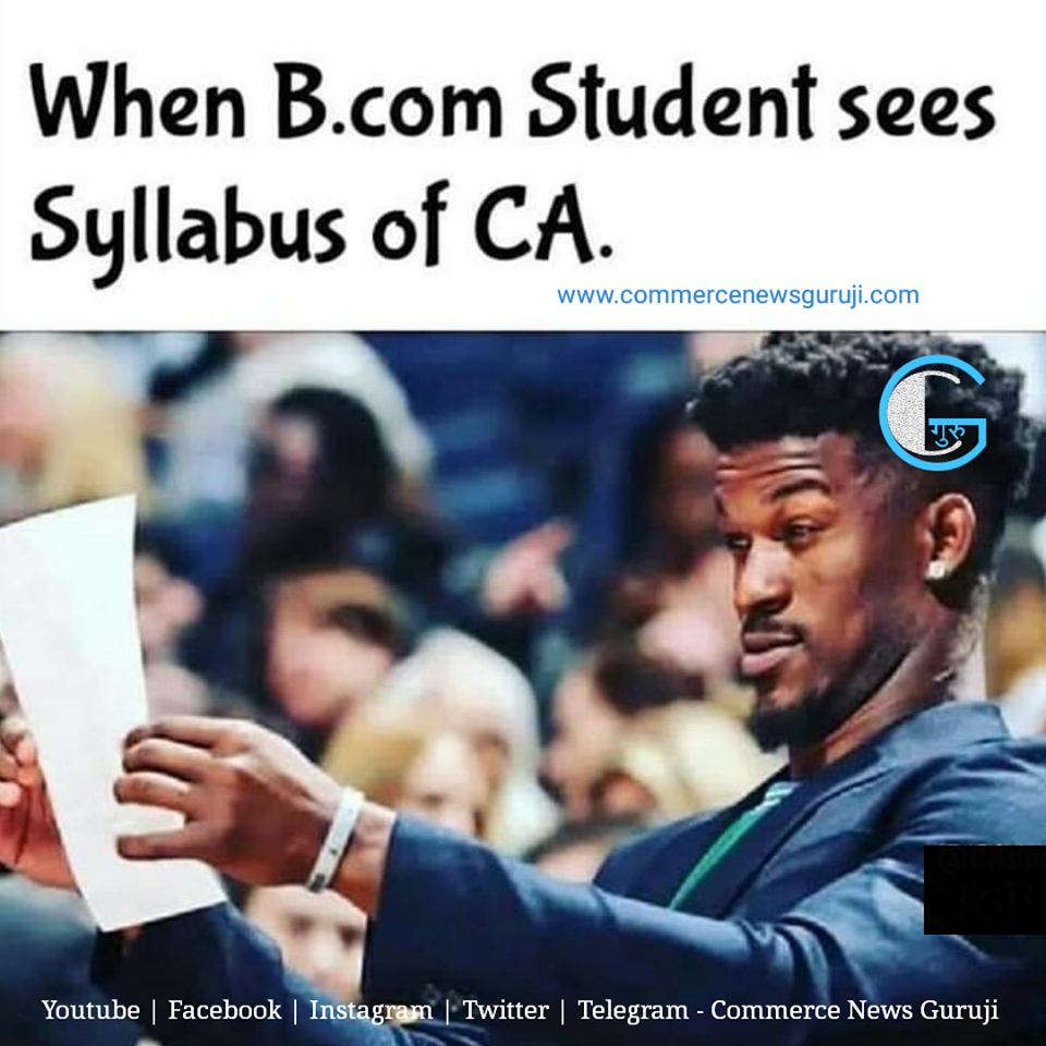 When B Com Student Sees Syllabus Of Ca Student Jokes Funny Friday Memes Accounting Humor