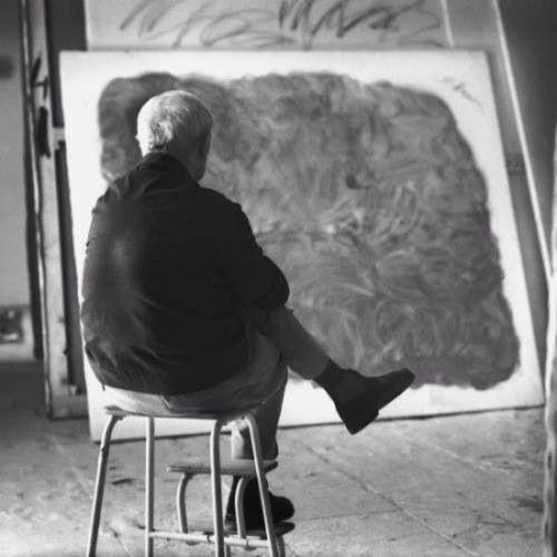 Miró en su estudio de Palma Mallorca