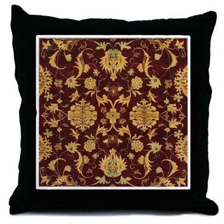 Persian throw pillow also rug brown and tan woven
