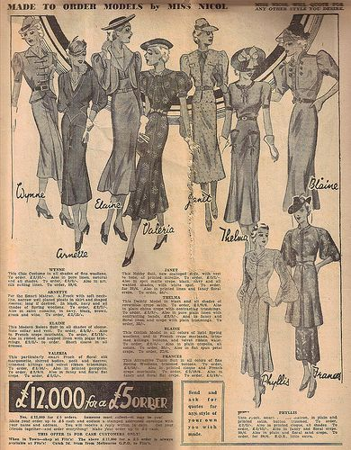 Fitz's Spring & Summer Catalogue 1937-1938. #vintage #1930s #fashion