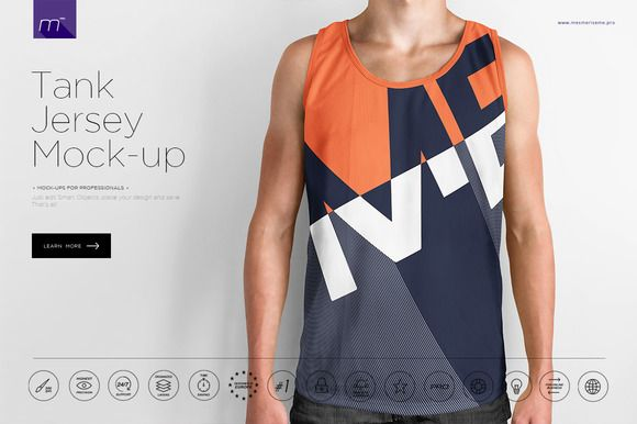 Tank Jersey Mock-up by mesmeriseme.pics on @creativemarket ...