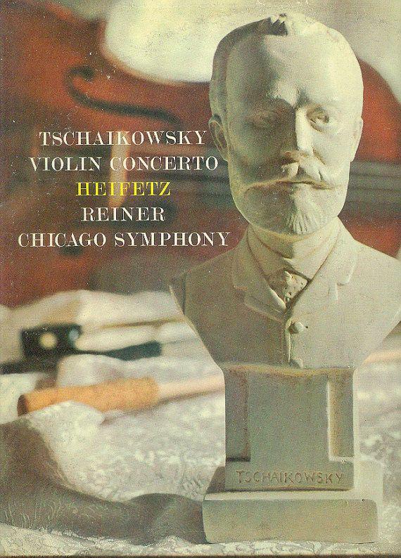 Tchaikovsky Violin Concerto LP Heifetz Reiner Chicago by vinylplus
