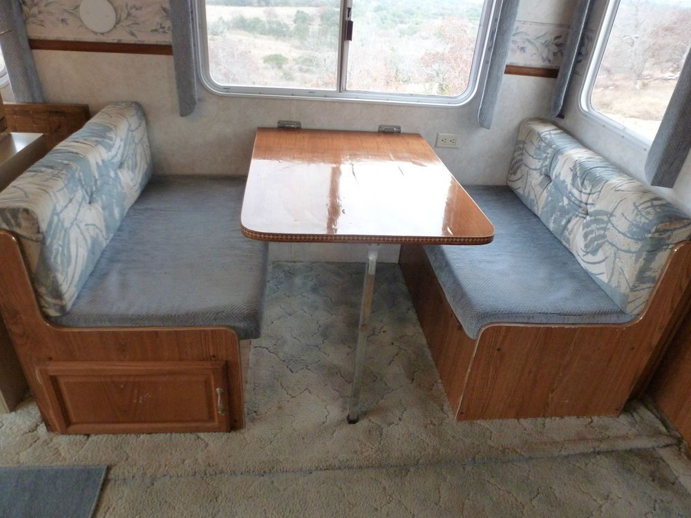 Rv Dinette Table Bed Seat Frame And Cushions Rv And Rv