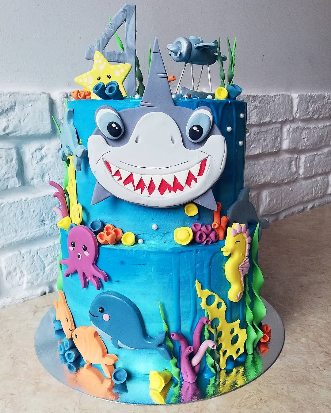 """Will Your Child S Next Birthday Party Bust Your Budget: 77 """"Baby Shark"""" Cake Ideas To Steal For Your Child's Next"""