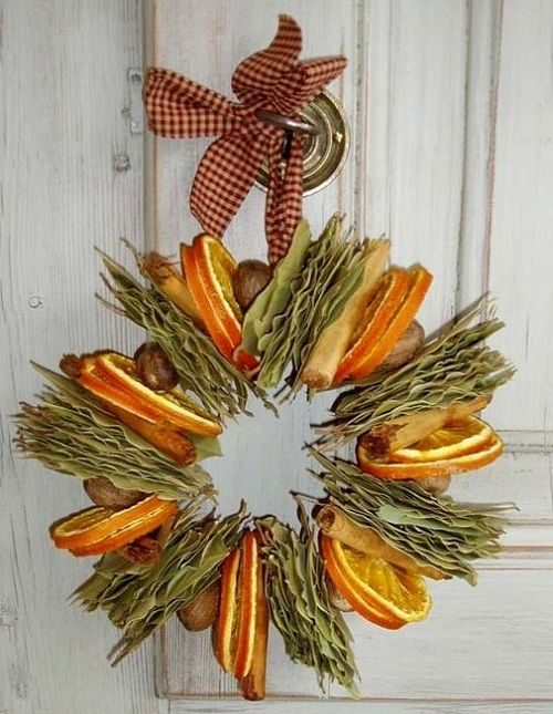 How To Make A Natural Dried Fruit Wreath Diy Wreaths