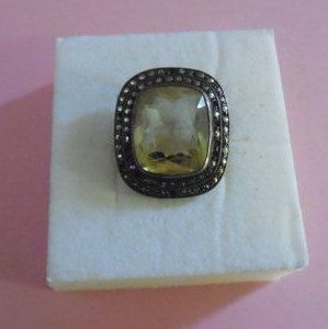 SPECTACULAR Germany  Large Sterling Victorian Citrine by MICSJWL