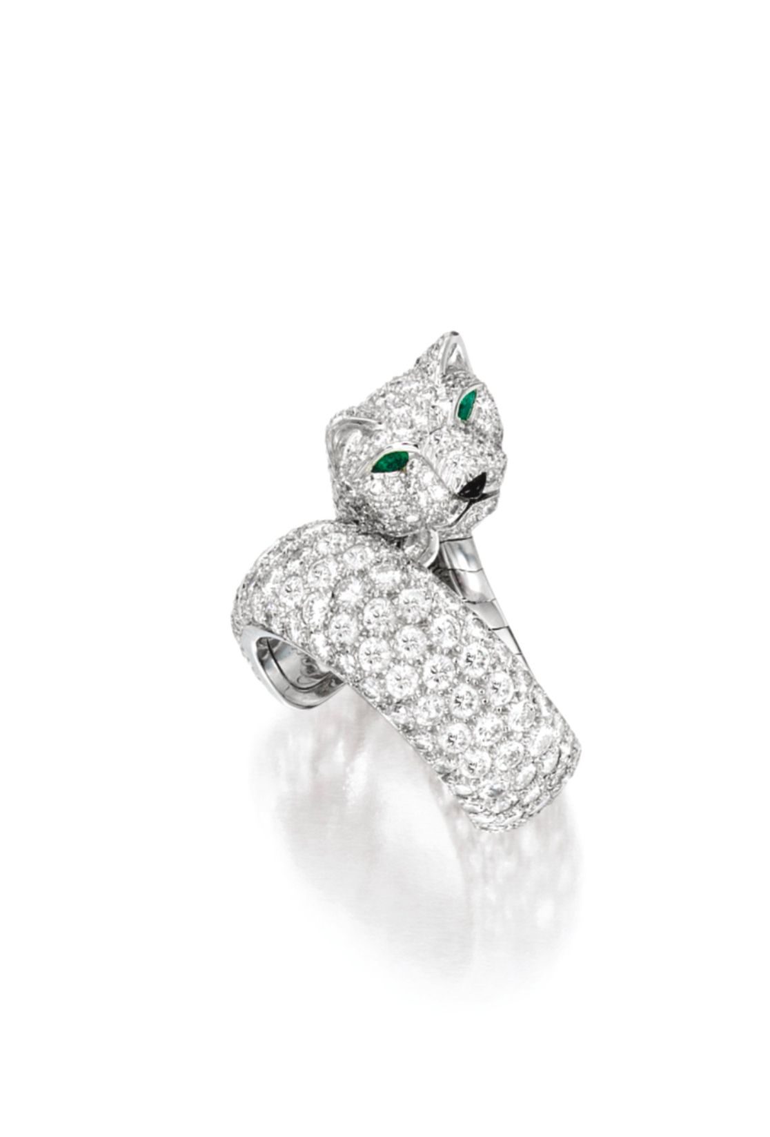 b5c14e97ee669 Diamond, Emerald and Onyx Ring, 'Panthère', Cartier. Designed as a ...