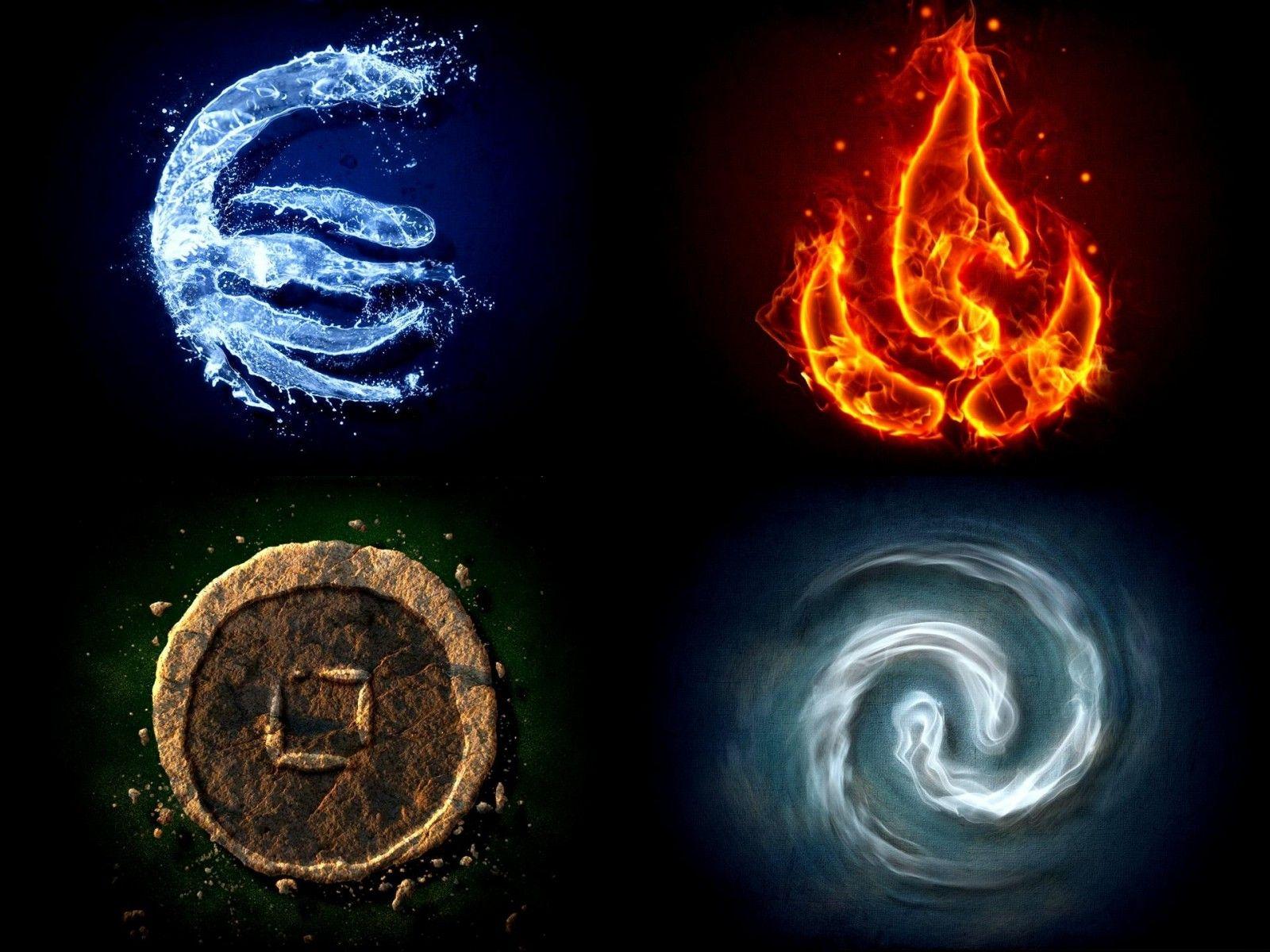 les 4 l ments avatar les 4 l ments pinterest earth air fire water element symbols et. Black Bedroom Furniture Sets. Home Design Ideas