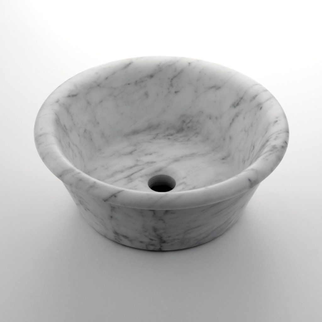 Round Vessel Marble Lavatory 15 3 4 X 15 3 4 X 5 7 8 Products