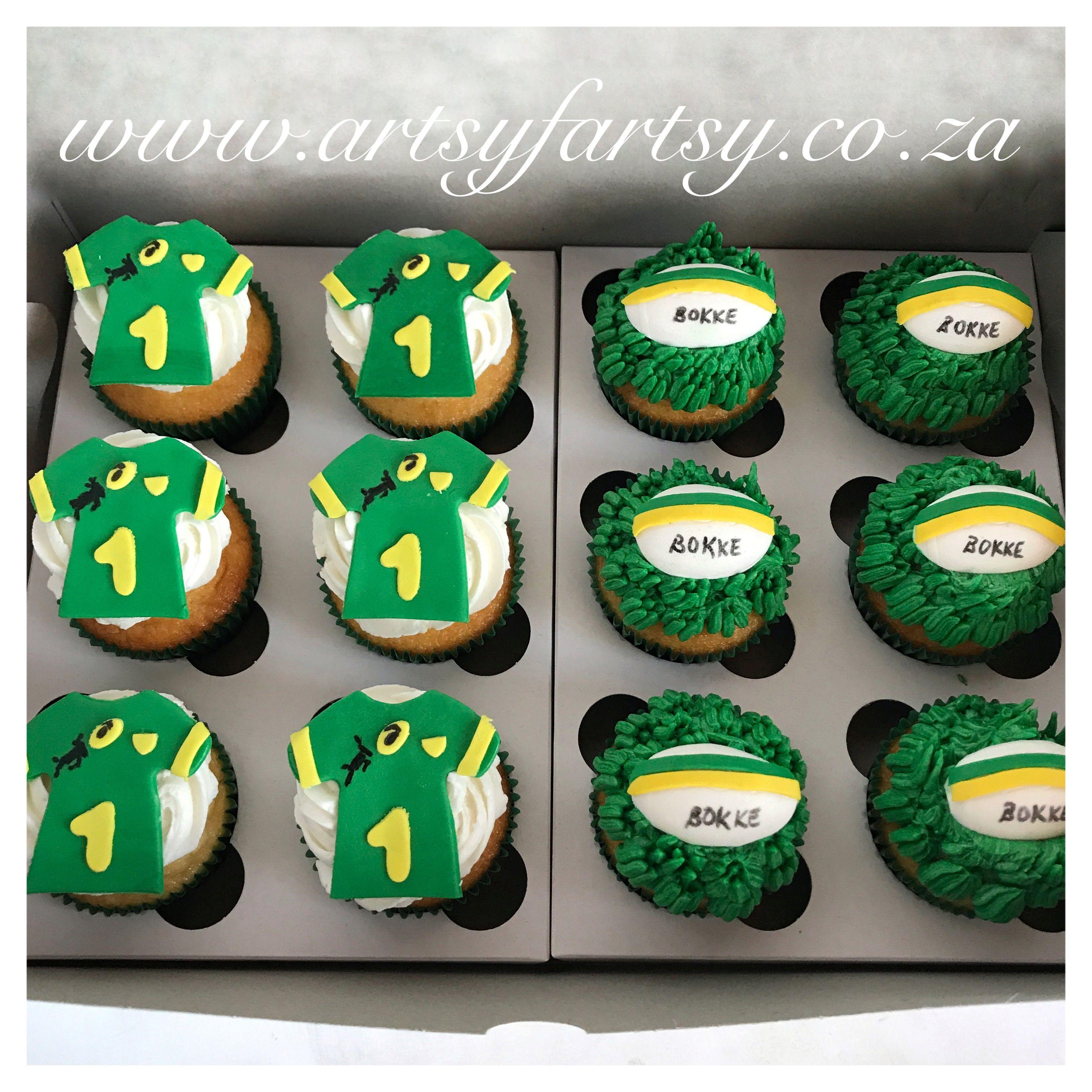 Springbok Rugby Cupcakes Springbokrugbycupcakes