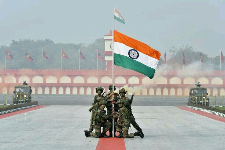 Soldiers Holding Tricolor Tiranga Indian Army Special Forces Indian Army Wallpapers Army Day