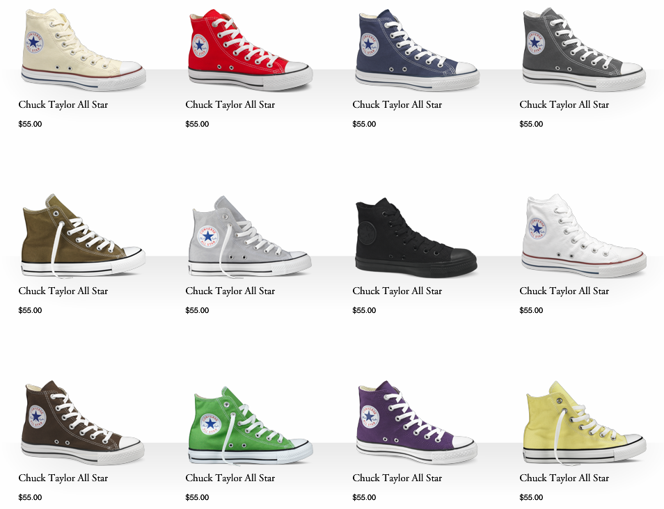 converse colors - All Converse Colors