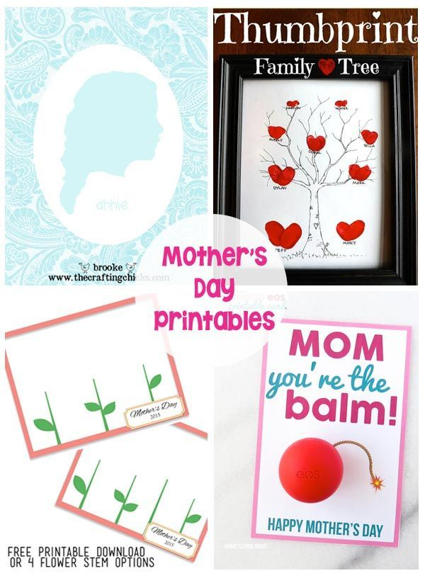 20 Mother\'s Day Gifts and Printables   DIY Ideas   Pinterest