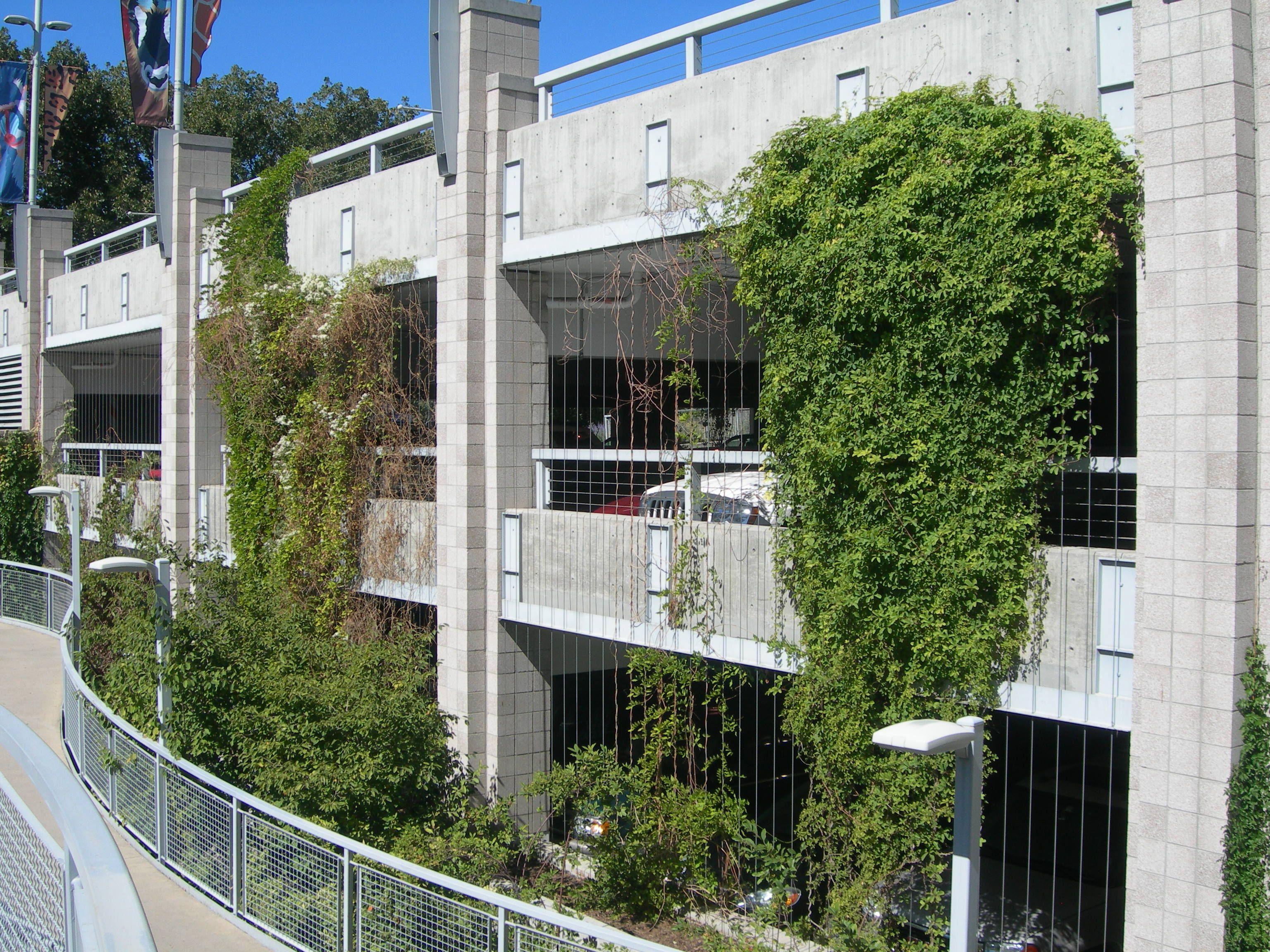 Green Wall On Parking Garage Landscape Architecture