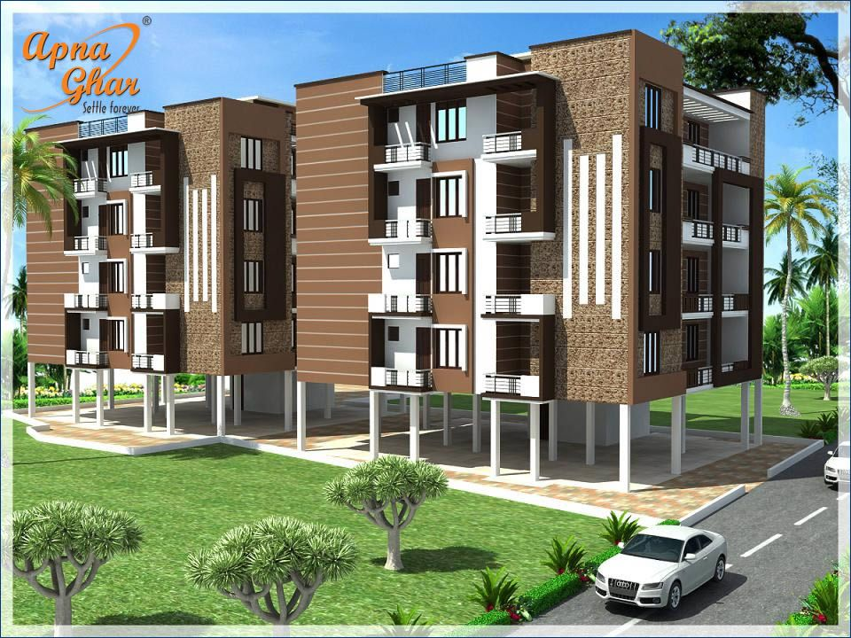 Modern apartment exterior design click here http www for One floor house exterior design