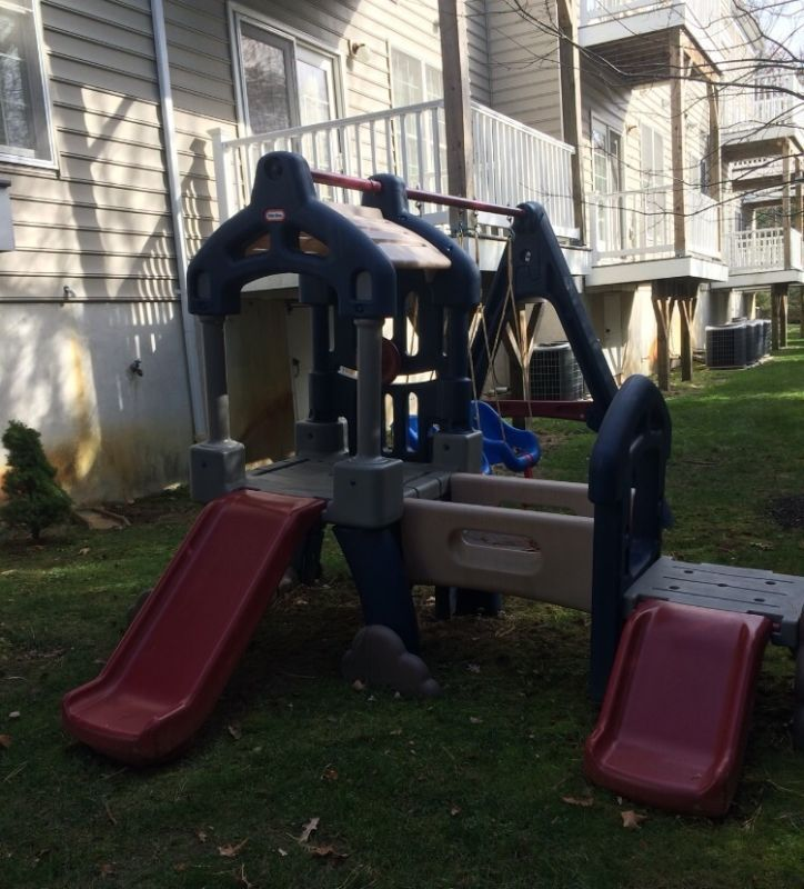 Little Tikes Swing Set With Double Slide Includes Big Kid Swing