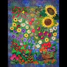 pretty flower quilt