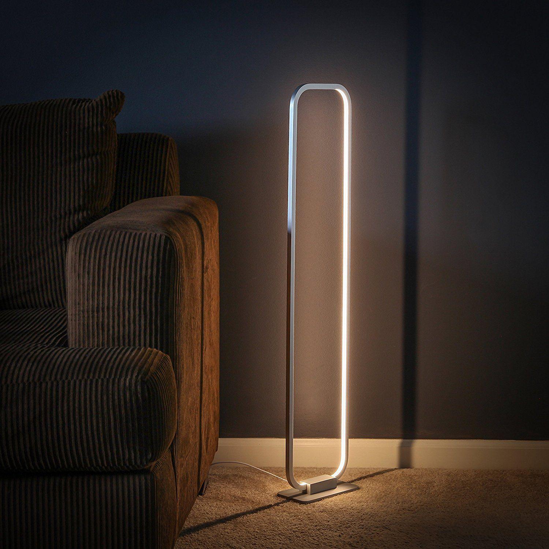 Brightech Contour Led Floor Lamp Adjustable Pivot Point 16 Watt Industrial Grade Led Light Fixture Glowing With 70 Cool Floor Lamps Led Floor Lamp Floor Lamp