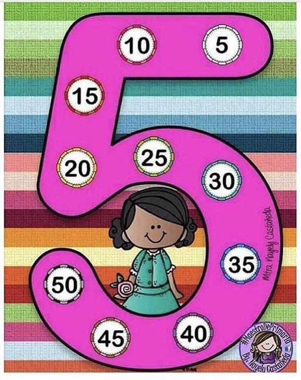 سهلي على طفلك حفظ جدول الضرب بطريقة محببة جدول ضرب العدد 5 Kids Math Worksheets Multiplication Math Activities