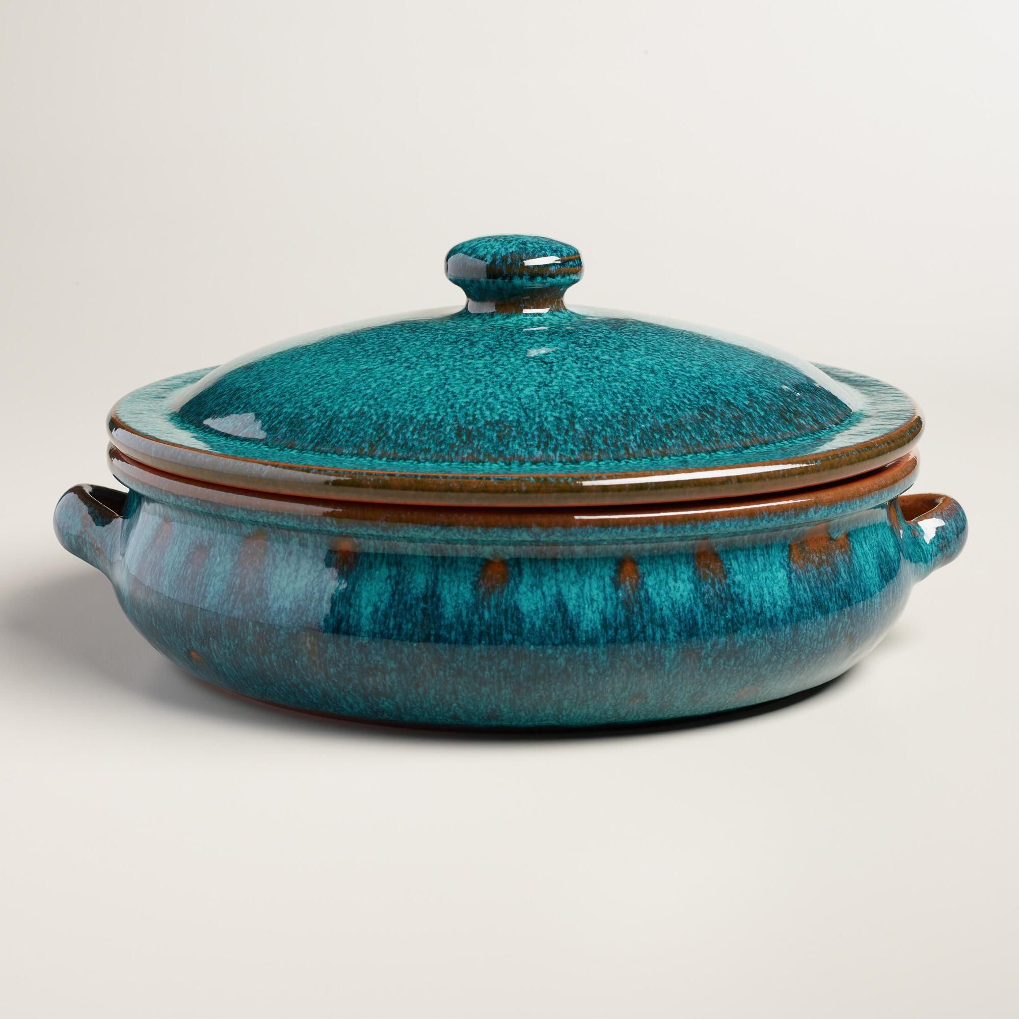 Large Peacock Reactive Glaze Belly Shaped Baker With Lid Ceramic Dishes Ceramic Baking Dish Ceramic Pottery
