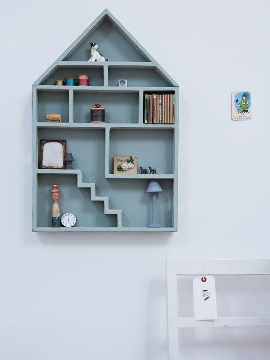 Gesso Dolls House Shelf What Better Place For Adults And Children Alike To Collect Their Childhood Treasures Than On Thi House Shelves Shelves Dollhouse Shelf