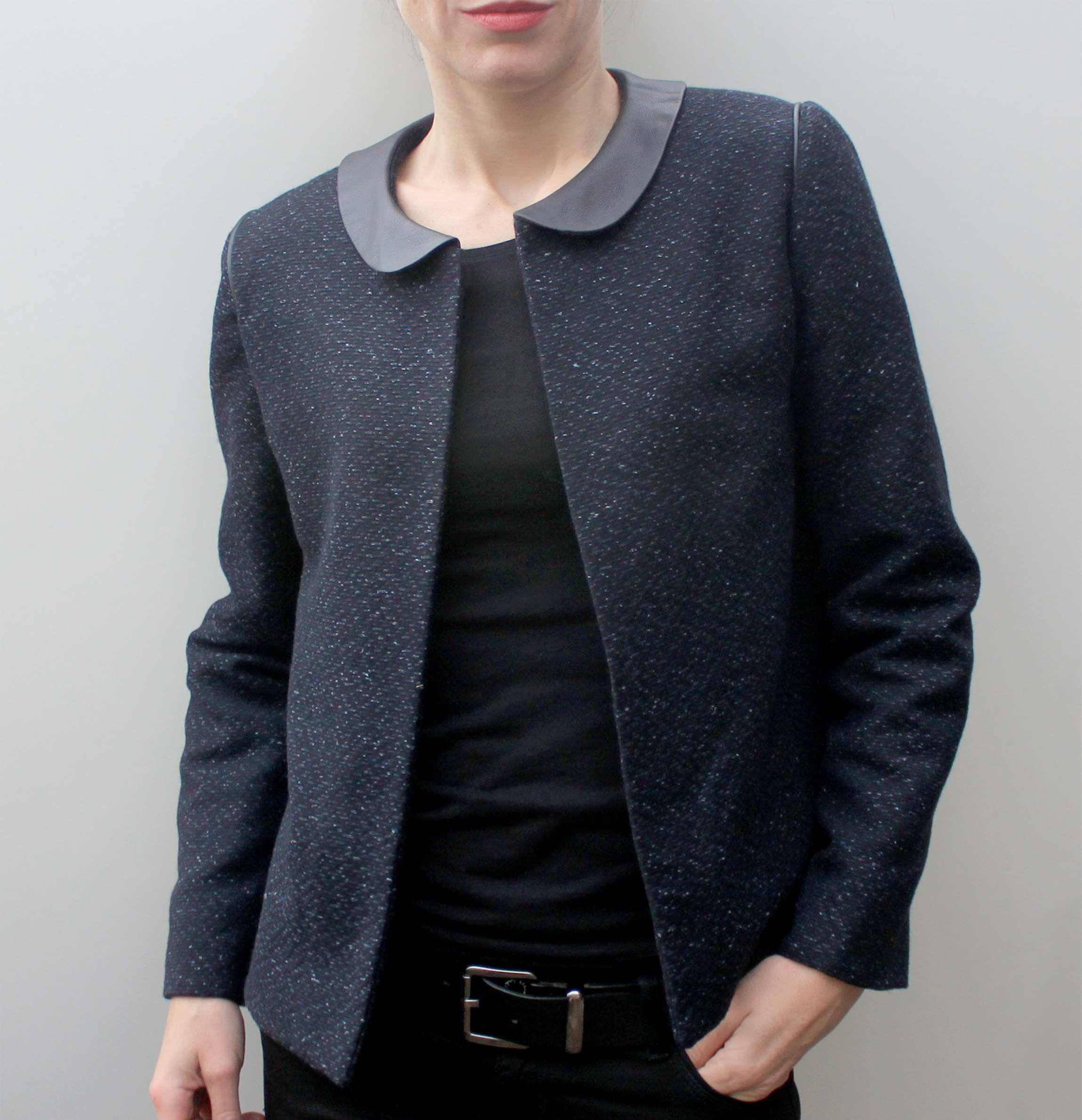 Bien connu 1-veste-Claudie-patron-de-couture-pour-femme | Sewing Inspiration  QJ06