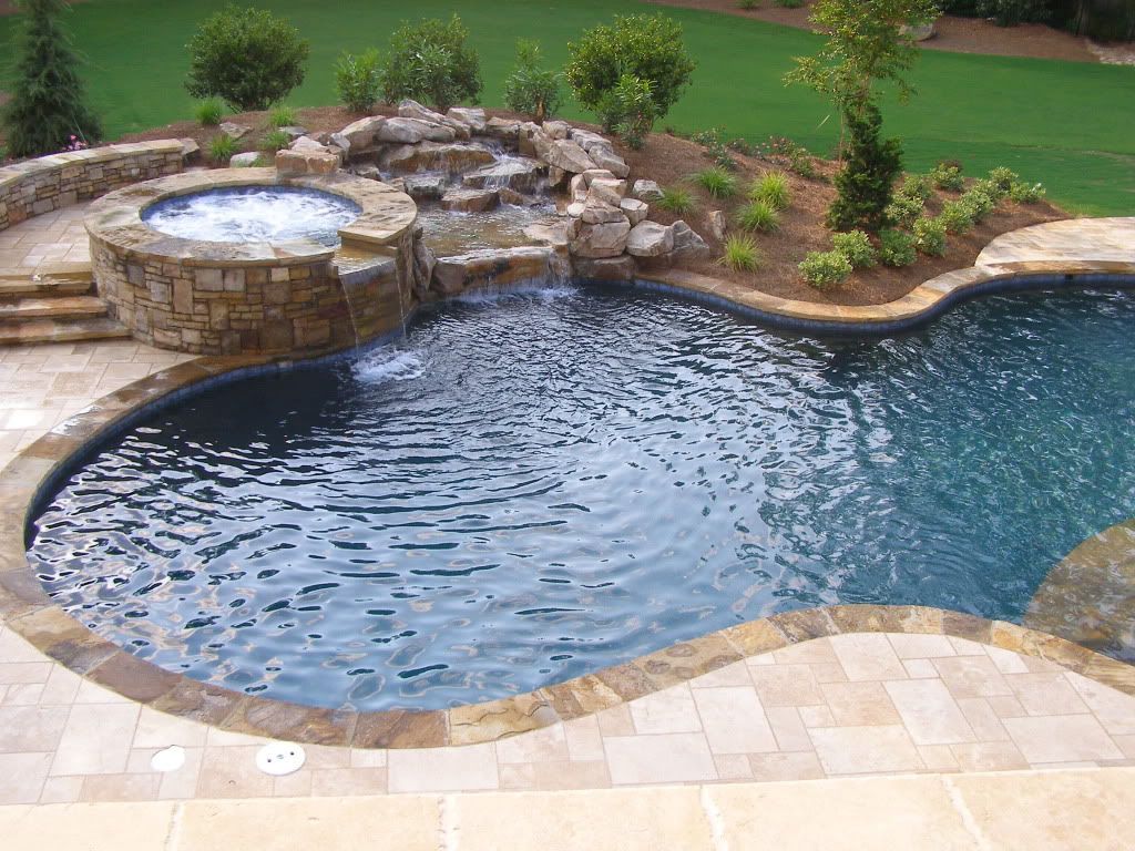 Pin By Jana Plasket On Backyard Travertine Pool Decks Flagstone