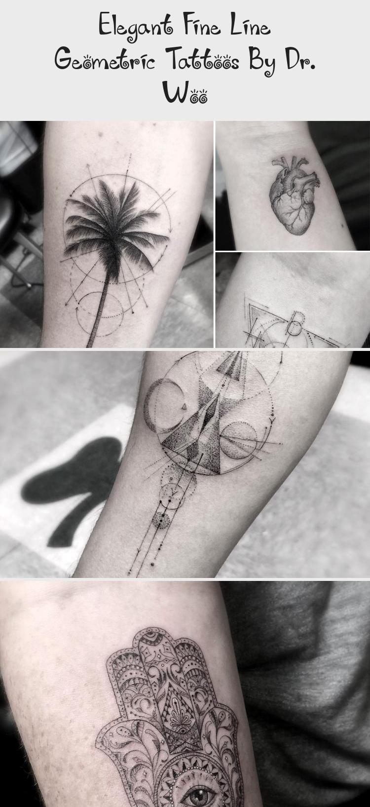 Elegant Fine Line Geometric Tattoos By Dr. Woo | Tattoos