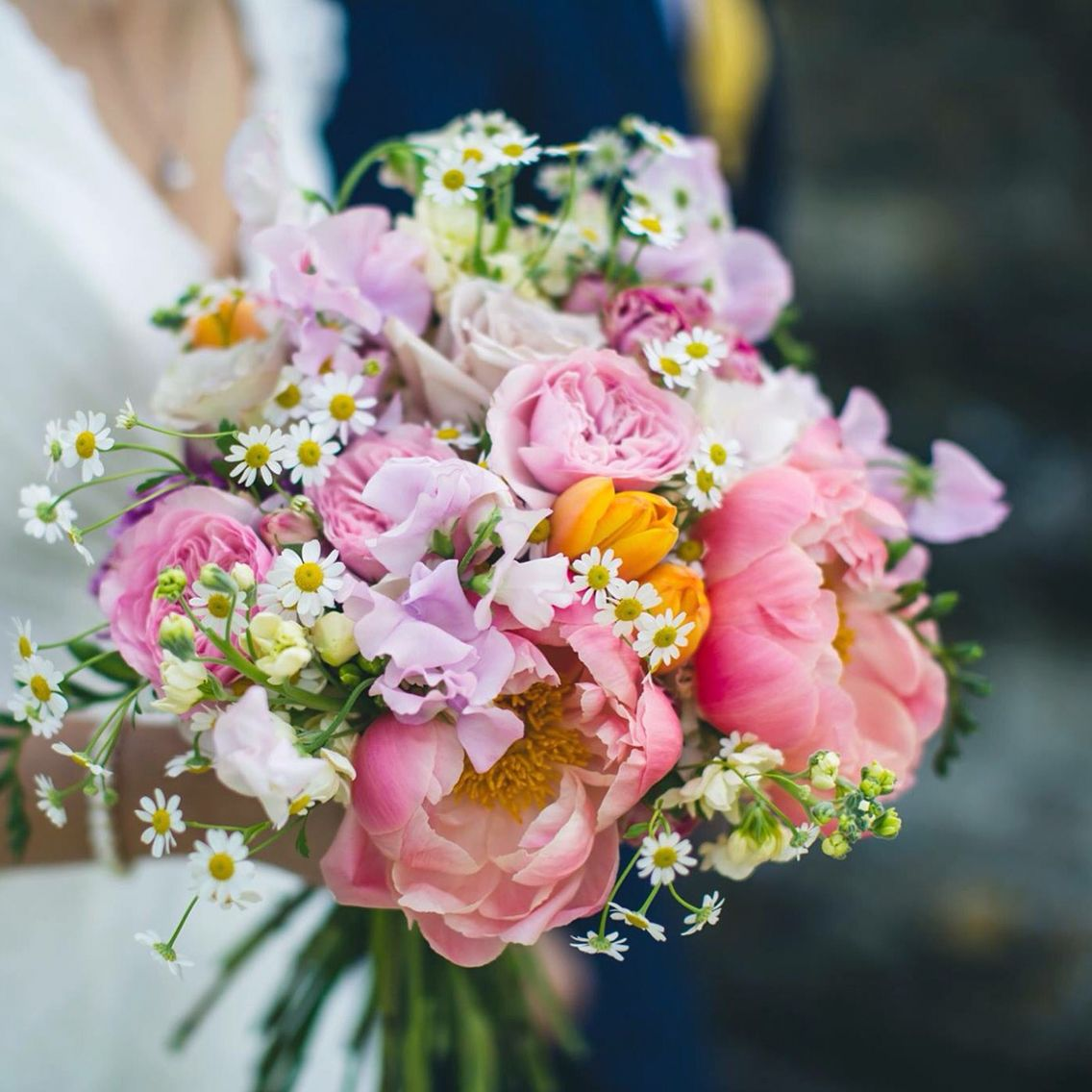 Peony bridal bouquet for an early summer wedding by Jennyfleur ...