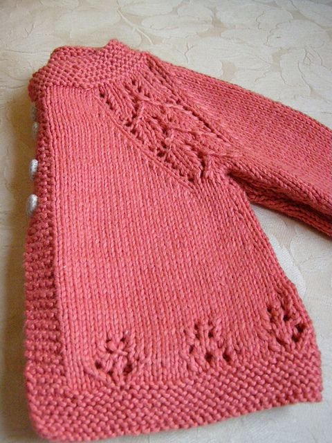 Ravelry Maile Sweater By Nikki Van De Carcords06 S Soft Coral Knit