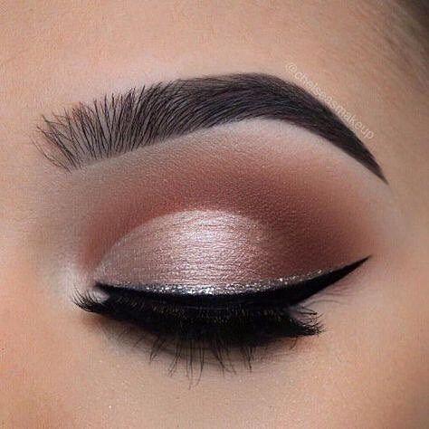 Augen Make-up Glitzer Eyeliner #eyeshadow #eyemakeup   – Wedding- makeup