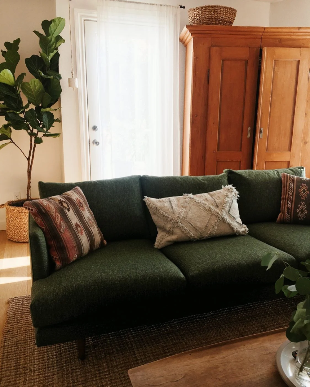 Burrard Forest Green Sofa Green Couch Living Room Living Room Design Green Green Living Room Color Scheme #olive #green #couch #living #room