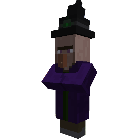 papercraft witch minecraft molde zumbi