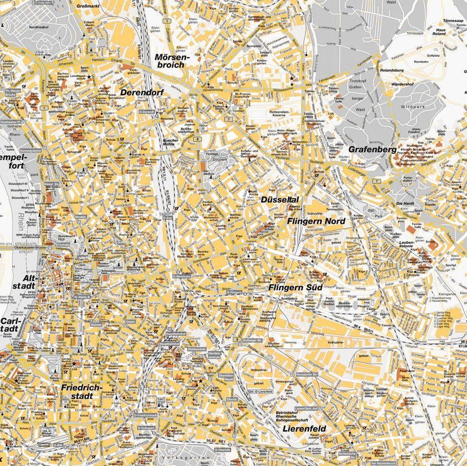 düsseldorf stadtbezirke karte düsseldorf stadtteile karte Seite   StadtPlan | Stadtplan, Karten