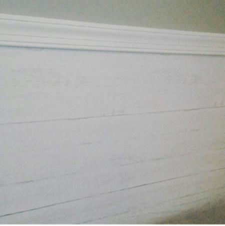 NuWallpaper Off White Shiplap Peel And Stick Wallpaper