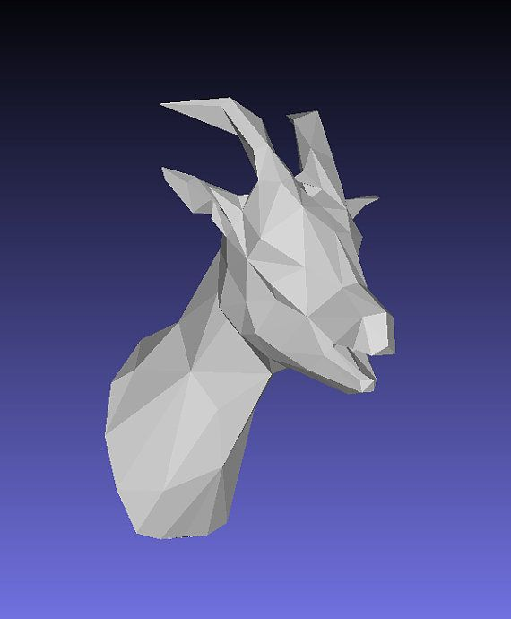 Diy Goat Papercraft Trophy Perfect For Your Wall Decor Goats Trophy Paper Crafts