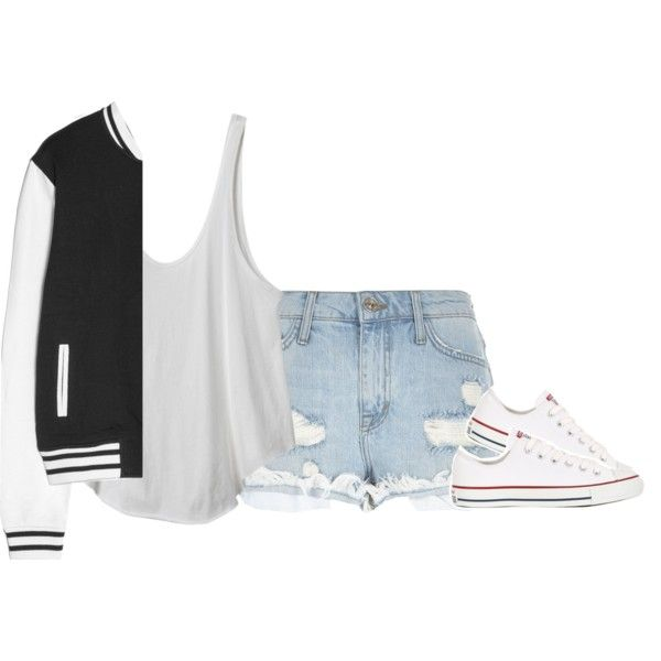 . by ldaniellel on Polyvore featuring mode, RVCA, MANGO, River Island and Converse