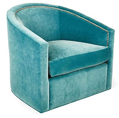 Turquoise Georgia Swivel Barrel Chair Oh, I Had A Pair Of These Chairs,