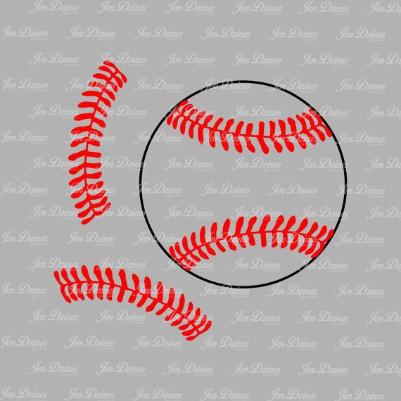 Baseball Stitches Svg Dxf Eps Cutting File Silhouette